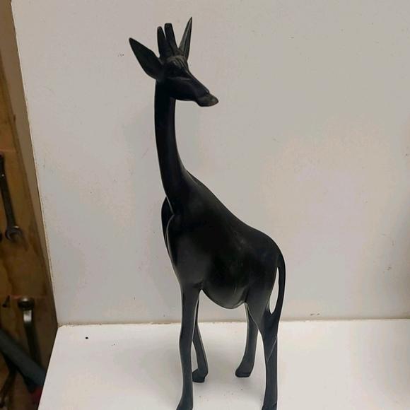 Vintage Handmade wooden giraffe